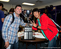 Jake Rodriguez & Chan Moon pose with the Championship Cup